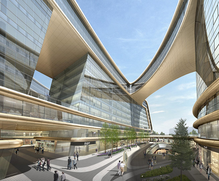 Многофункциональный комплекс Sky SOHO в Шанхае