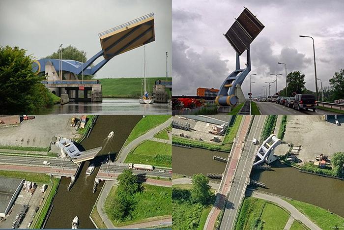 Подъемный мост 'Слауэрхофф' в Леувардене