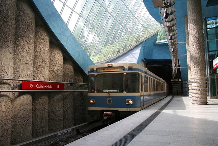Cтанция метрополитена «Санкт-Квирин-Плац» в Мюнхене: интерьер помещения