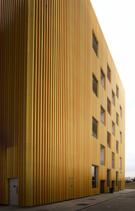 Штаб-квартира компании-производителя древесных строительных материалов «Санрэй»: фрагмент фасада