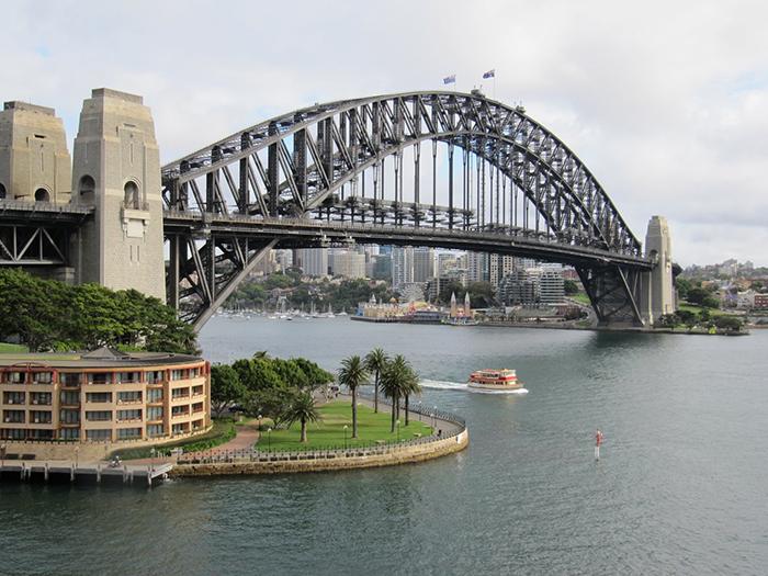 Мост 'Харбор-Бридж' в Сиднее, Австралия