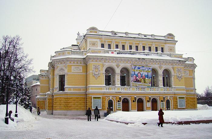 Нижегородский Государственный Академический Театр Драмы зимой