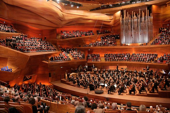 Concert Hall em Copenhaga: o interior do salão
