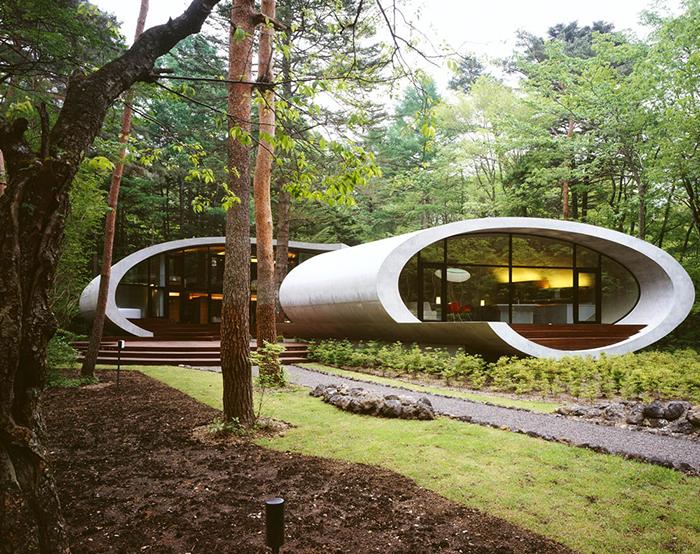 Вилла Shell House в поселке Каруидзава