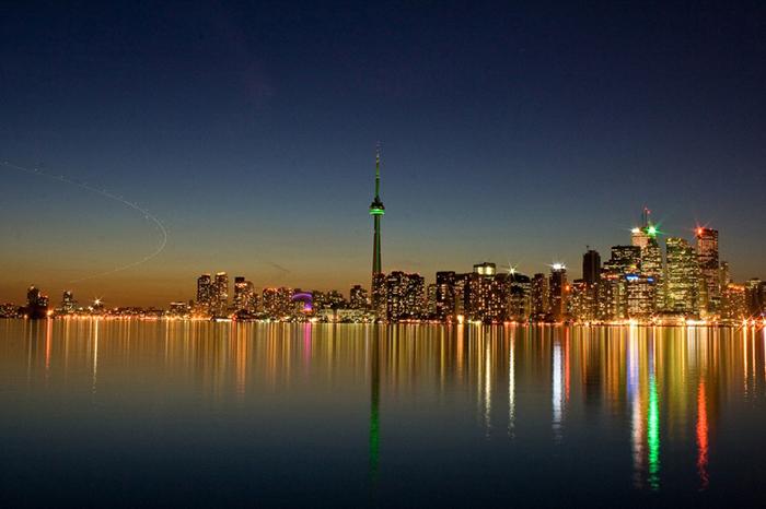 Панорама ночного Торонто