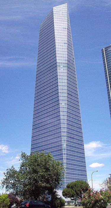 Стеклянная Башня в Мадриде.
