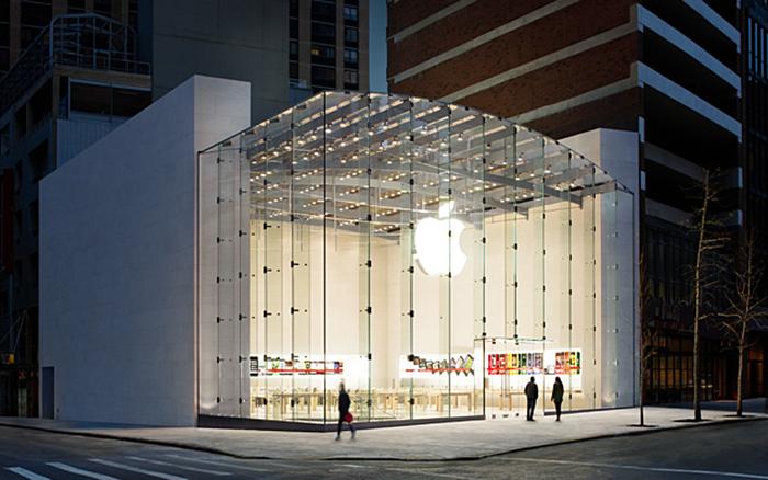 Магазин Apple в западной части Нью Йорка