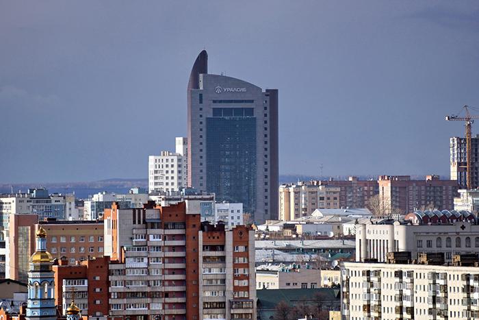 Штаб-квартира банка «УРАЛСИБ» в панораме города