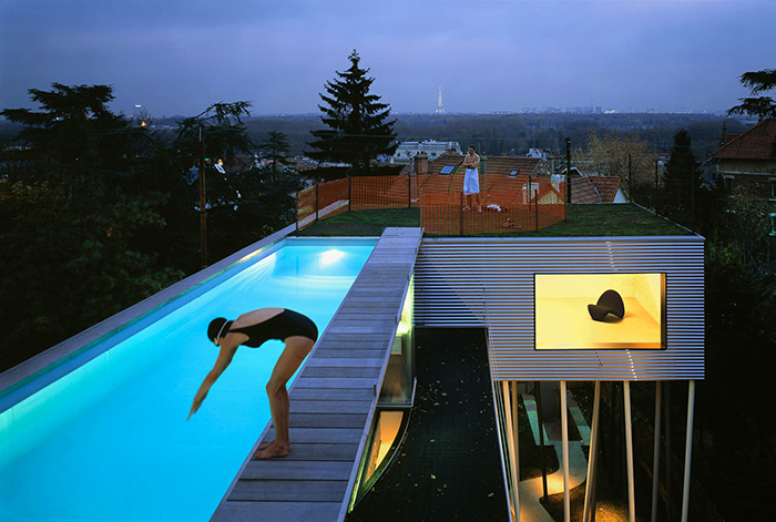 Вилла dall'Ava в Париже, Франция: бассейн на крыше