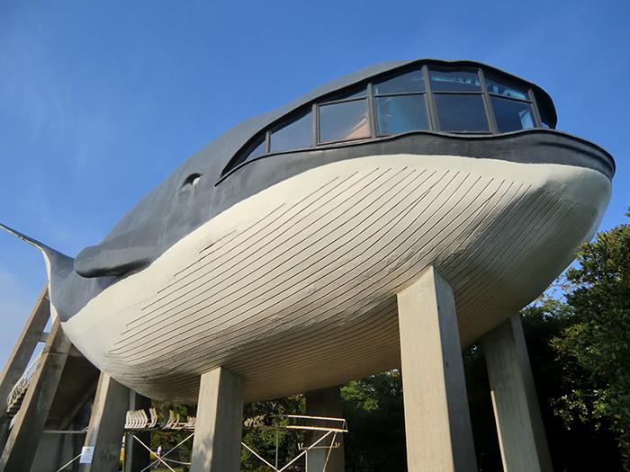 «Здание-кит» в парке в Моносеки, Япония