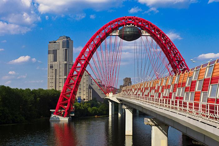 'Живописный мост' в Москве, Россия