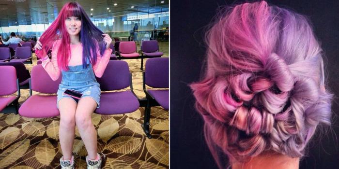 Новый двухцветный тренд в окрашивании волос для самых смелых.