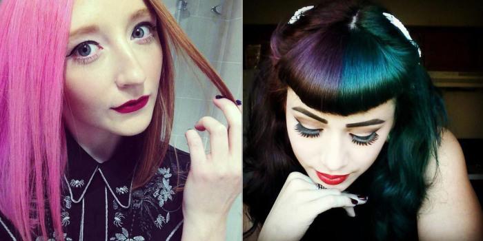 Техника окрашивания «split hair» – проще простого: нужно разделить волосы на две равные части и нанести красители двух контрастных цветов ровно по границе пробора.