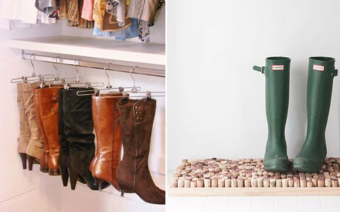 Как хранить обувь зимой, чтобы в прихожей всегда было чисто.
