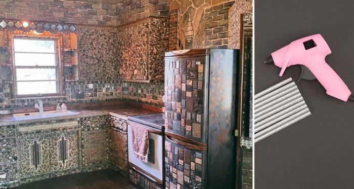 В течение 35 лет художница из Миннеаполиса (штат Миннесота) украшала свой дом с помощью клеевого пистолета.