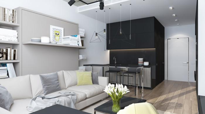 Стильная, функциональная и комфортная студия на площади менее 30 квадратных метров.