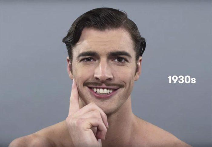 В тридцатые годы двадцатого века мужчины активно использовали гель для укладки волос.