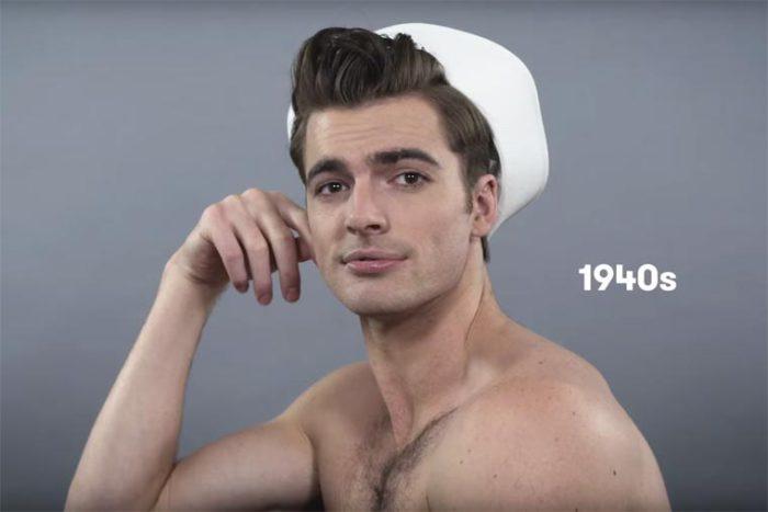 В сороковые годы прошлого столетия мужские прически выглядят более пышно и объемно.
