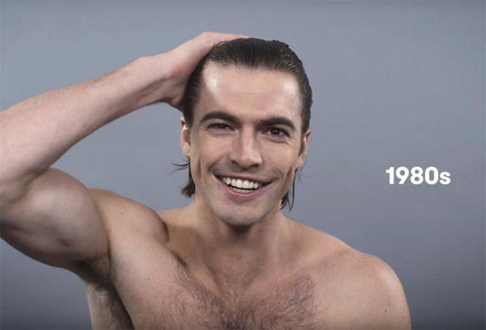 В восьмидесятые годы прошлого столетия мужчины вновь начинают зачесывать волосы назад и фиксировать прическу гелем.