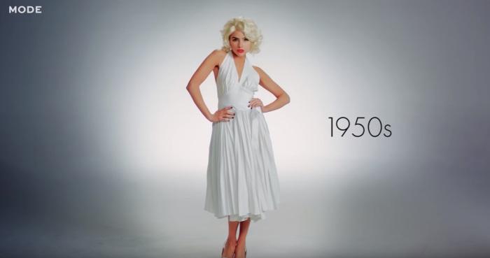 Модель из рекламы зубной пасты в фильме «Зуд седьмого года», роль которой в 1955 году исполнила непревзойденная Мерилин Монро (Marilyn Monroe).