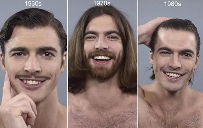 Эволюция мужских причесок за последнее столетие.