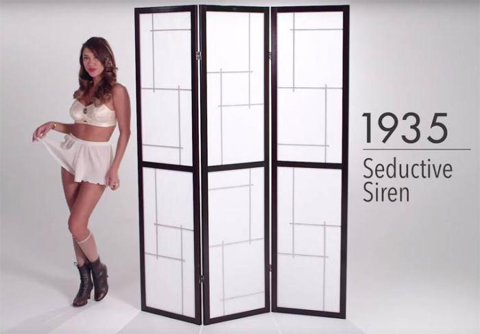 В 30-е годы ХХ века женщины начали носить бюстгальтеры, и нижнее белье стало более соблазнительным и завлекающим.