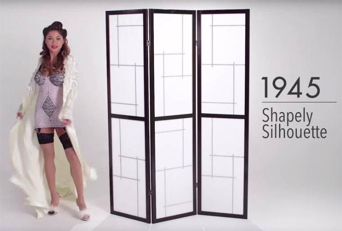 В 40-е годы прошлого века женское нижнее белье становится более откровенным и подчеркивает фигуру.