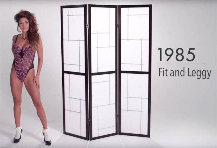 В 80-е годы прошлого века женское нижнее белье должно было подчеркивать стройную фигуру и длинные ноги.