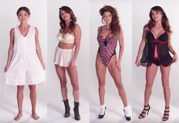 Как видоизменялись модели женского нижнего белья за последние 100 лет.
