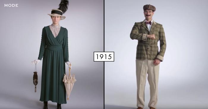 Так выглядели мужчины и женщины в начале прошлого столетия.