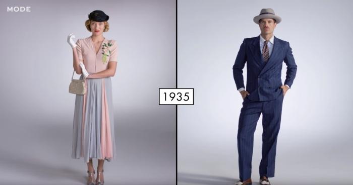 В годы Великой депрессии в одежде сочетаются элегантность и практичность.