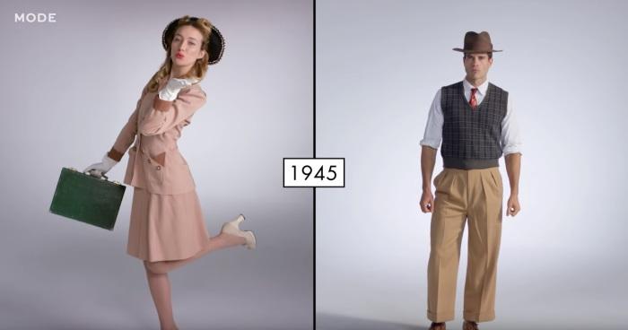 Так выглядели мужчины и женщины в сороковые годы прошлого столетия.