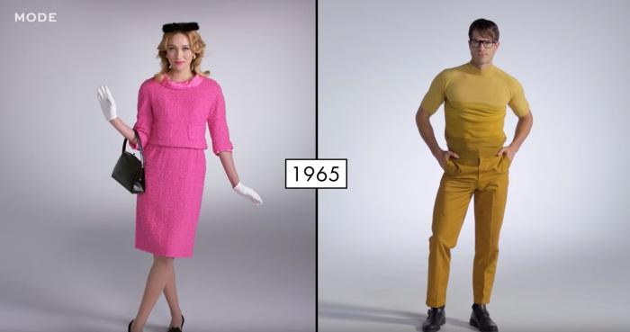 В шестидесятые годы прошлого столетия мужчины и женщины выглядели очень ярко.