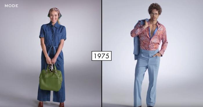В семидесятые годы прошлого века и мужчинам и женщинам моду диктовали этника, диско, хиппи и ретро.