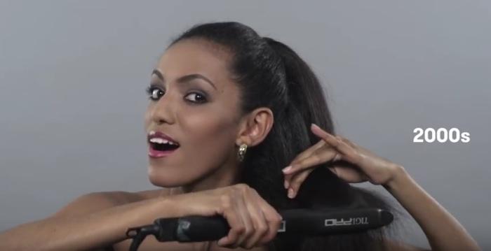 В начале двадцать первого века в Эфиопии, как и в других странах мира,  модно было носить идеально прямые волосы.
