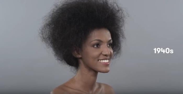 В сороковые годы двадцатого века эфиопки делали начесы и убирали волосы назад.