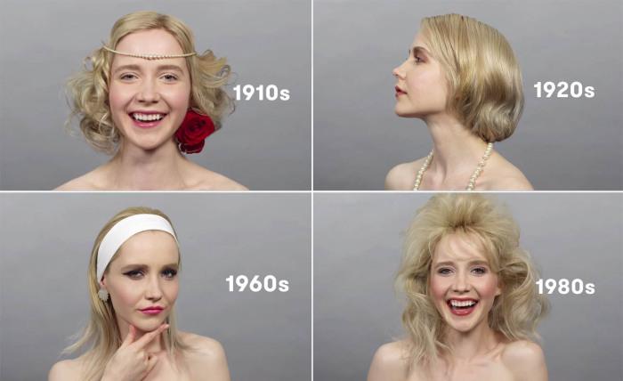 100 лет русской красы за одну минуту