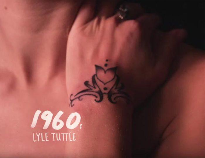 В шестидесятые годы двадцатого века американская рок-певица Janis Joplin (Дженис Джоплин) сделала популярным абстрактный рисунок, нанесенный на ее запястье тату-мастером Lyle Tuttle (Лайли Туттл).