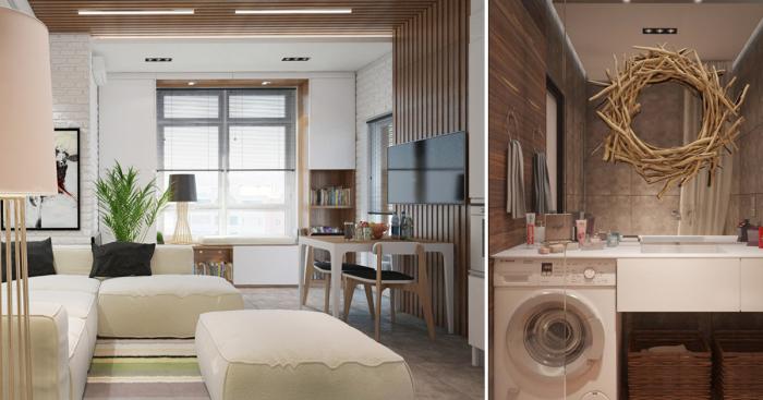 Эта небольшая квартира-студия, площадь которой всего 29 квадратных метров, поражает своей компактностью и высоким уровнем комфорта.