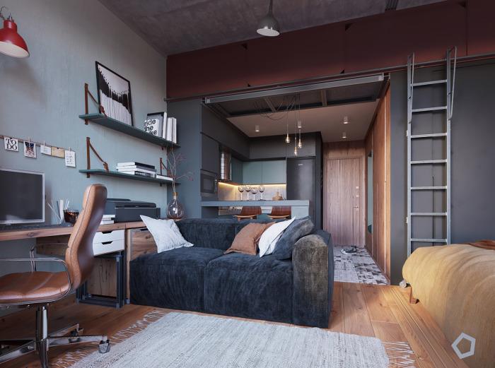 Дизайн малогабаритной квартиры, площадь которой 29 квадратных метров.