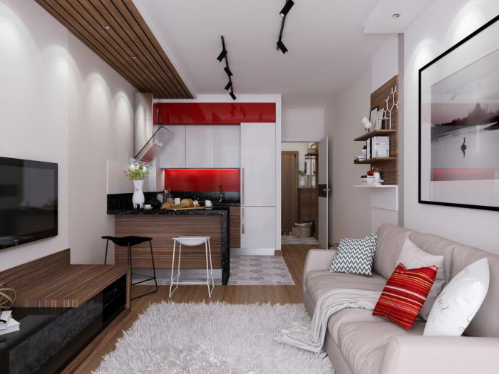 Небольшая, но очень уютная квартира.