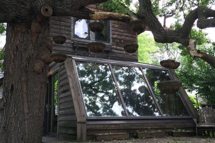Необычный дом Лаури Сведберг - художницы из Миннеаполиса (штат Миннесота).