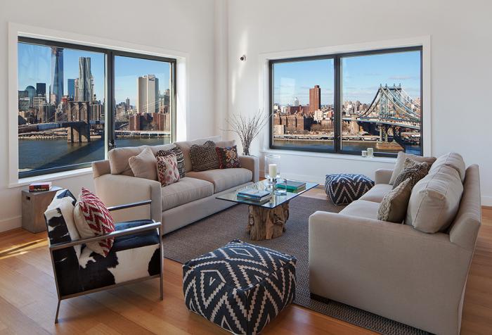 Апартаменты с изумительным видом на Манхэттен.
