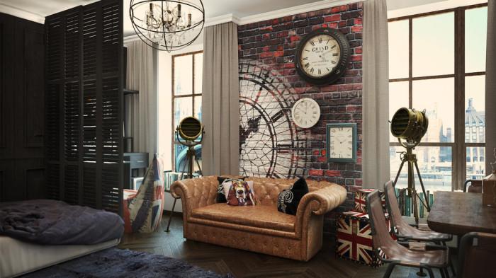Диван Честерфилд - неотъемлемый атрибут английского стиля в интерьере.