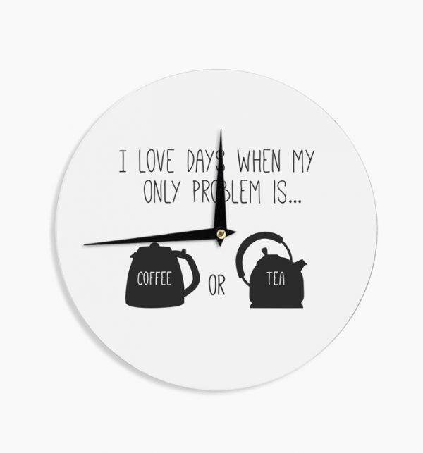 «Я люблю дни, в которые моя единственная проблема заключается в выборе между кофе и чаем».