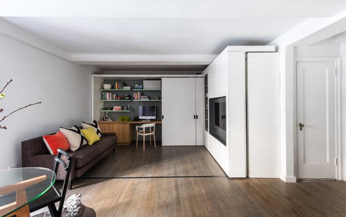 Квартира площадью 36 квадратных метров с трансформируемыми конструкциями.