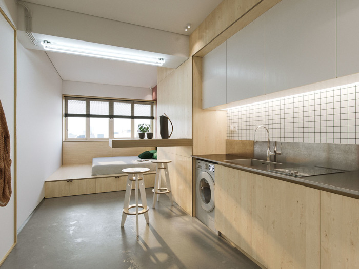 Изумительный дизайн квартиры, площадь которой составляет всего лишь 23 квадратных метра.