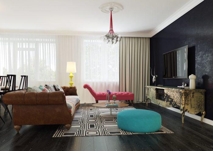 Квартира в стиле поп-арт от российского дизайнера Дмитрия Щуки.