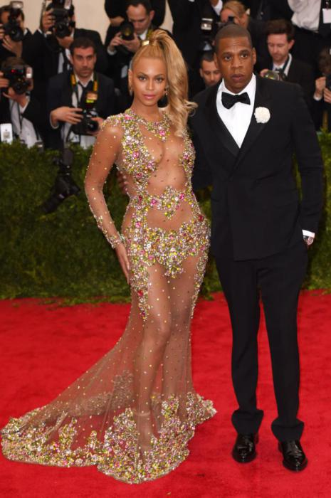 Beyonce in Givenchy and Jay-Z.
