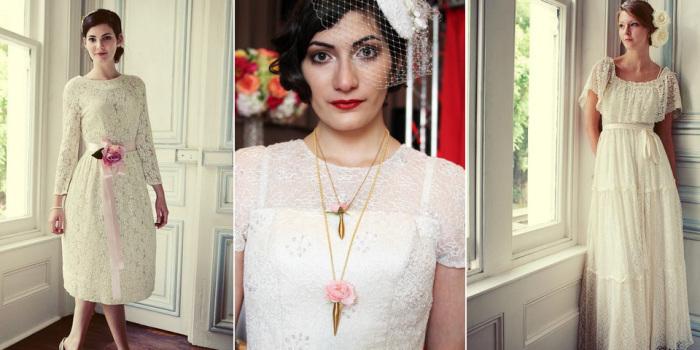 Цветочные аксессуары для винтажного свадебного образа